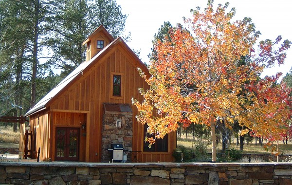 Timber Home In Custer, The Guest House and natural stone