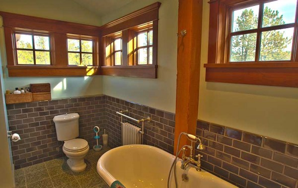 Timber Home In Custer, Special rail-road wall tiles